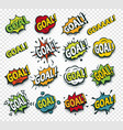 scored goal sticker hit the ball comics speech vector image