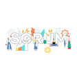 scrum text design - agile vector image vector image