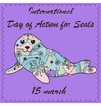 Seal pup background vector image vector image