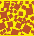 seamless pattern made of squares brown on yellow vector image vector image