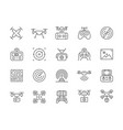 set drone line icons remote controller vector image vector image
