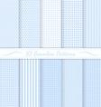 Set of ten subtle seamless patterns vector image vector image