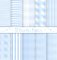 set ten subtle seamless patterns vector image