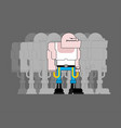 skinhead gang football fan evil bad bully vector image
