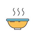 soup bowl concept line icon editable vector image vector image