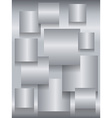 Steel square boards background vector image