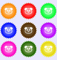 Teddy Bear icon sign Big set of colorful diverse vector image vector image