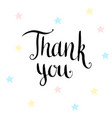 thank you handwritten card vector image vector image