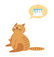 the cat is sitting on a white background vector image