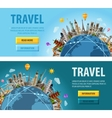 travel logo design template vacation or vector image