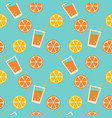 tropical lemonade seamless pattern vector image