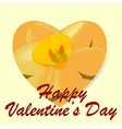 valentine or love message vector image