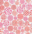 warm seamless pattern polka dot fabric background vector image vector image