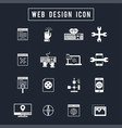 web design icon vector image
