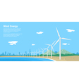 wind energy vector image vector image