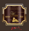 wine label 4 vector image