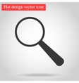 with shadow magnifying glass icon gray flat design vector image