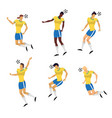 woman soccer players set in action vector image