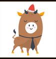 year bull postcard year bull 2021 vector image vector image