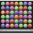 Social Media Icons setRound volume button vector image