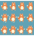 Set of flat red cat icons vector image