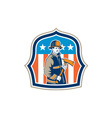 American Fireman Firefighter Fire Axe Shield vector image