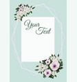 a floral invitation card vector image