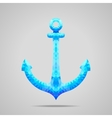 Abstract polygonal Sea Anchor vector image vector image