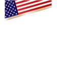 american flag symbols border corner vector image vector image