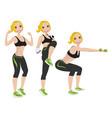 athlete female vector image