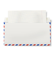 Backside of opened DL air mail envelope vector image vector image