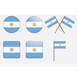 badges with flag of Argentina vector image