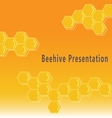 Beehive presentation background vector image vector image