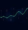 big data algorithms visualization technologies vector image