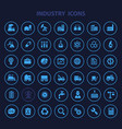 big industry icon set trendy flat icons vector image