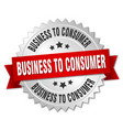 business to consumer round isolated silver badge vector image vector image