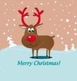 christmas deer rudolf vector image