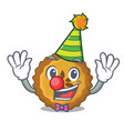 clown apple pie isolated in the mascot vector image vector image