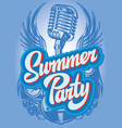 color poster template for summer party vector image