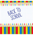 colored pencils frame for text back to school vector image