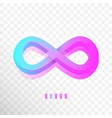 colorful infinity or infinite symbol logo sign vector image
