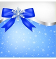 Diamond snowflake with bow vector image vector image