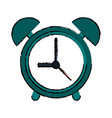 drawing green clock time watch alarm vector image