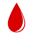 drop of blood on a white background vector image vector image