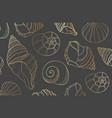 elegant golden line sea shells vector image vector image