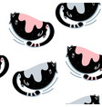 fat cute cat seamless pattern vector image