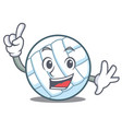 finger volley ball character cartoon vector image vector image