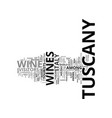 food and wine in the tuscany districts text vector image vector image