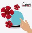 Gipsy design vector image vector image