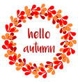 hello autumn wreath card vector image vector image